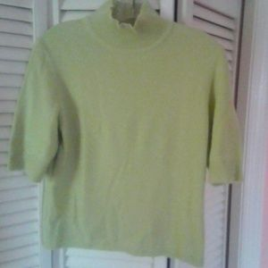 Ann Taylor Cashmere Short Sleeve Sweater